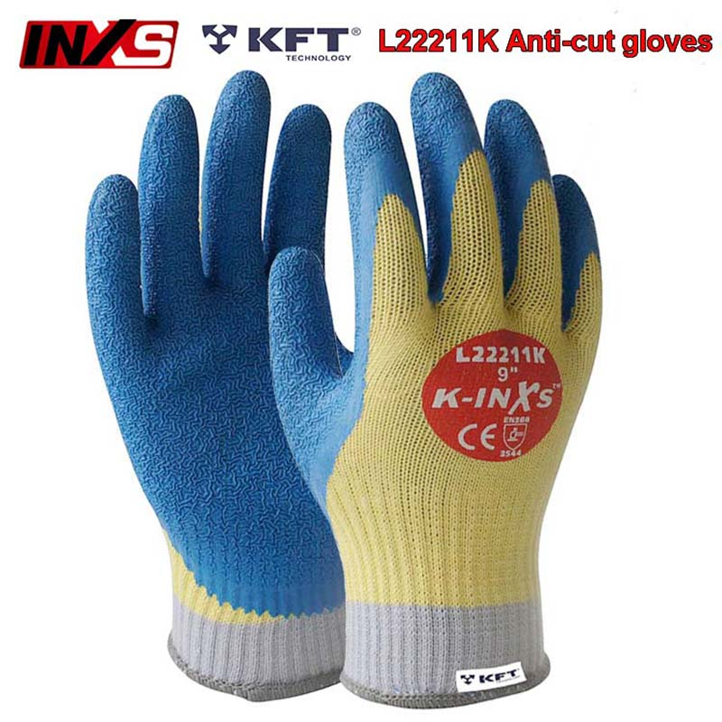 SAFETY INXS Cut resistant gloves High temperature resistance 100 degree Coating cut-proof gloves Wear-resistant safety gloves new black safety cut stab resistant stainless steel wire metal mesh butcher gloves cut resistant safety gloves