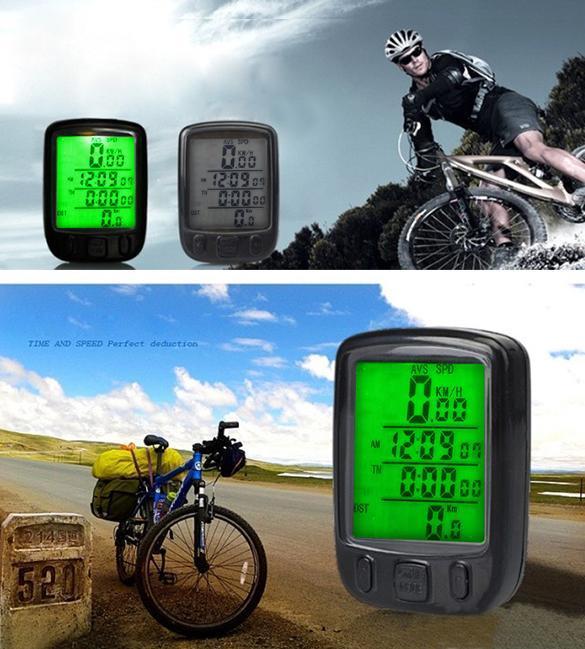 Waterproof Digital LCD Computer Cycle Bicycle Bike Speedometer Odometer LED Backlight 563B waterproof digital lcd computer cycle bicycle bike speedometer odometer