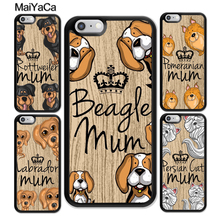 MaiYaCa Rottweiler mum Beagle mum puppy pet Phone Case For iphone XR XS MAX 11 Pro MAX X 6 6S 7 8 Plus 5 5S Back Cover Shell new iphone case for iphone 11 for iphone11 pro max 5 8 inches 6 1 inches 6 8 inches 6 6s 7 8 plus ix xr max x fashion back cover