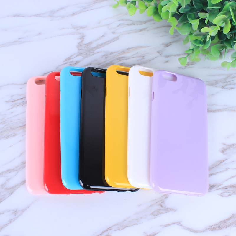 HTB1vMazoZjI8KJjSsppq6xbyVXaa - FREE SHIPING Candy Color TPU Rubber Silicone Soft Gloss Phone Cases Back Cover For iPhone 6 6s 7 8 Plus 5 5s SE X JKP387