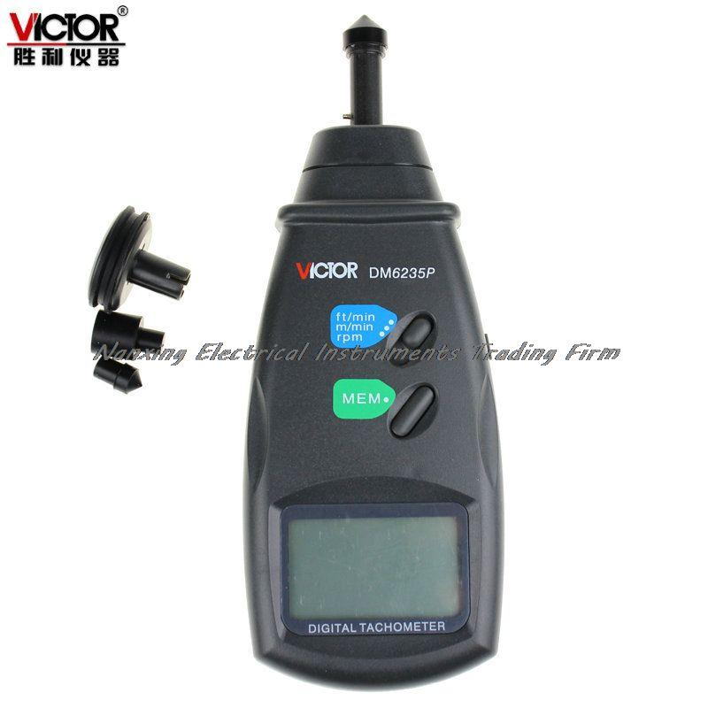 ФОТО Fast arrival Victor DM6236P 5-digit Digital Tachometer Large LCD Rotate Speed Tester