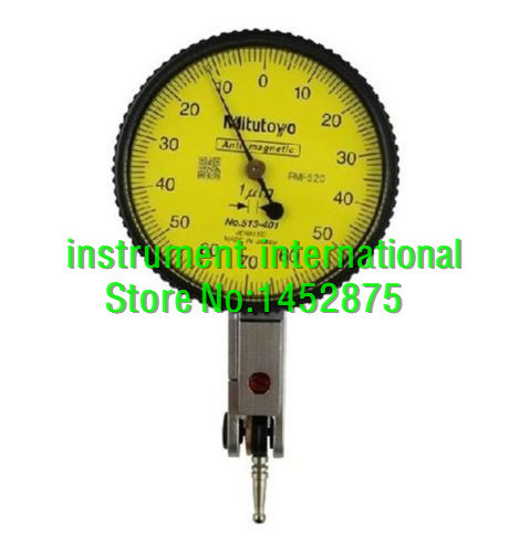 Original Mitutoyo 513-401E Dial Test Indicator 14mm//0.001mm Horizontal Type