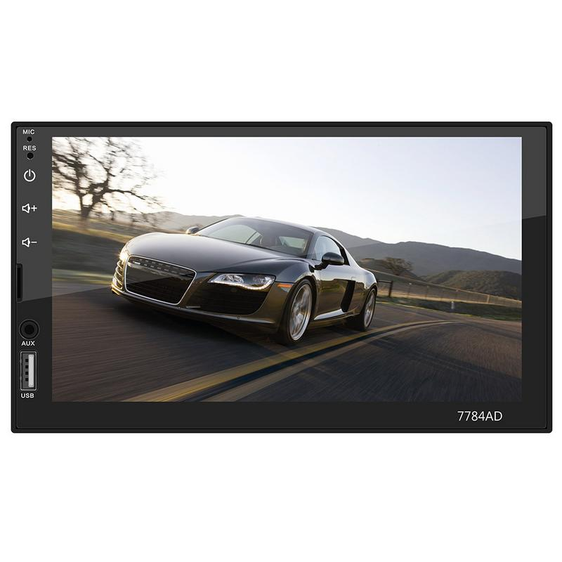 Touch Screen GPS Android 7.1 System Navigation Bluetooth MP4 Card Machine DVD Navigation Machine 7784ad 7