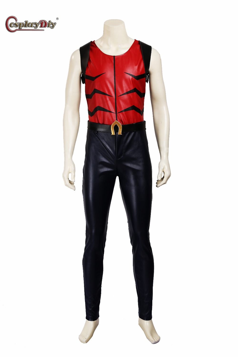 Cosplaydiy Young Justice Aqualad Costume Adult Men Halloween Carnival Cosplay Anime Young Justice Costume Custom Made J5