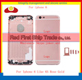 Высокое Качество Замена Для IPhone 6 Как 6 S Задняя Крышка Корпуса Крышка Батарейного Отсека Дверь Корпус Розовое Золото