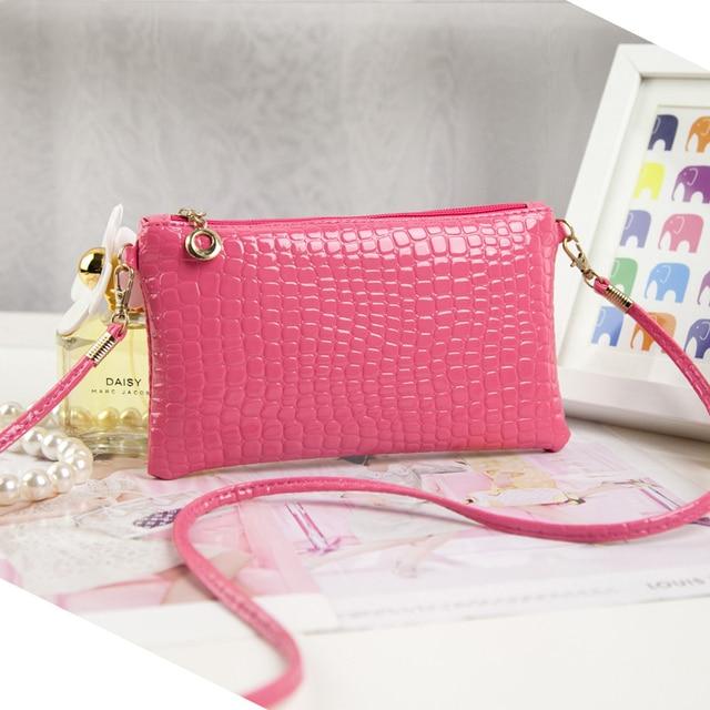 2016 Brand New Women Ladies Crocodile PU Leather Clutch Shoulder Messenger Evening Bag Handbags High Quality Free Shipping N761