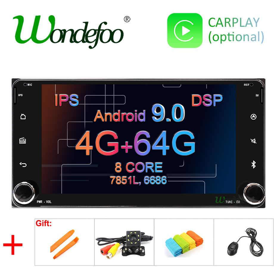 Android 9 0 64G DSP IPS screen CAR GPS For Toyota Universal RAV4 COROLLA VIOS HILUX