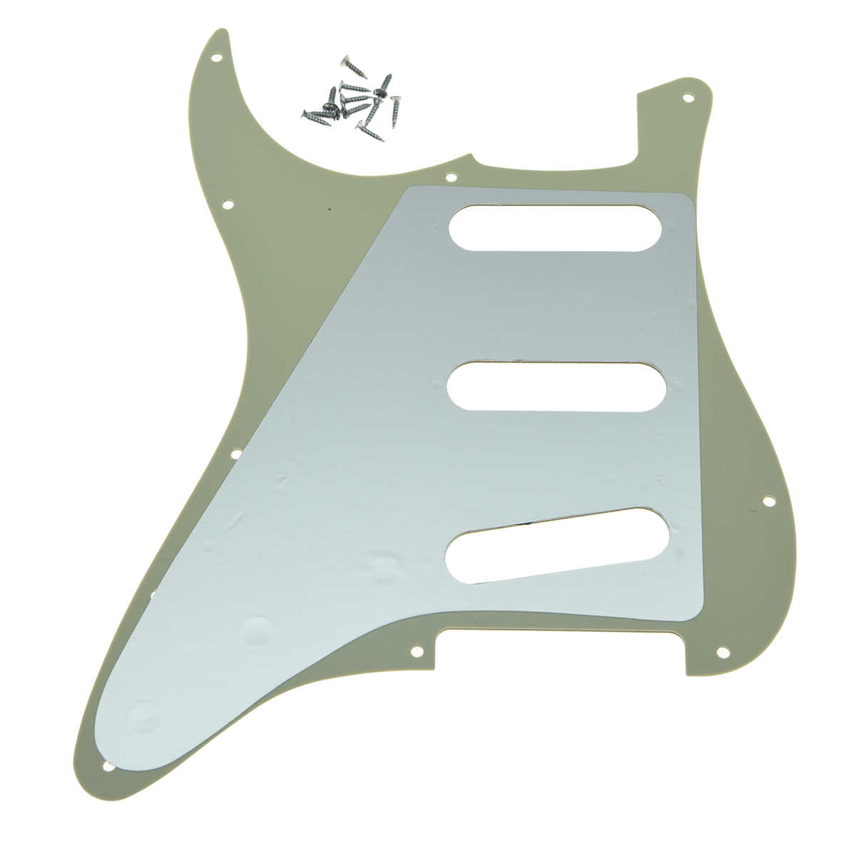KAISH 11 Hole Strat ST SSS Single Coil Pickups Guitar Pickguard Scratch Plate with Screws for American Fender 62 Stratocaster