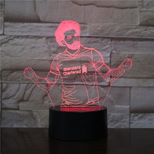 Football Player Mohamed Salah Figure 3d Led night light Touch Sensor 7 Color Changing table lamp bedside decorative lights led