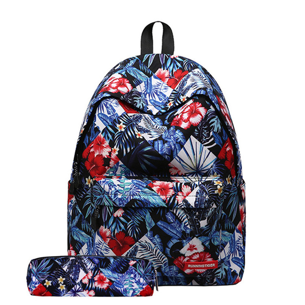 Hot Sale Fresh Style Women Backpacks Floral Print Bookbags Laptop School Bag For Girls Rucksack Female Travel Backpack