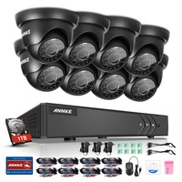 ANNKE 8CH 1080P HD CCTV Security System 8pcs 720P IR Outdoor Waterproof CCTV Camera Video Surveillance
