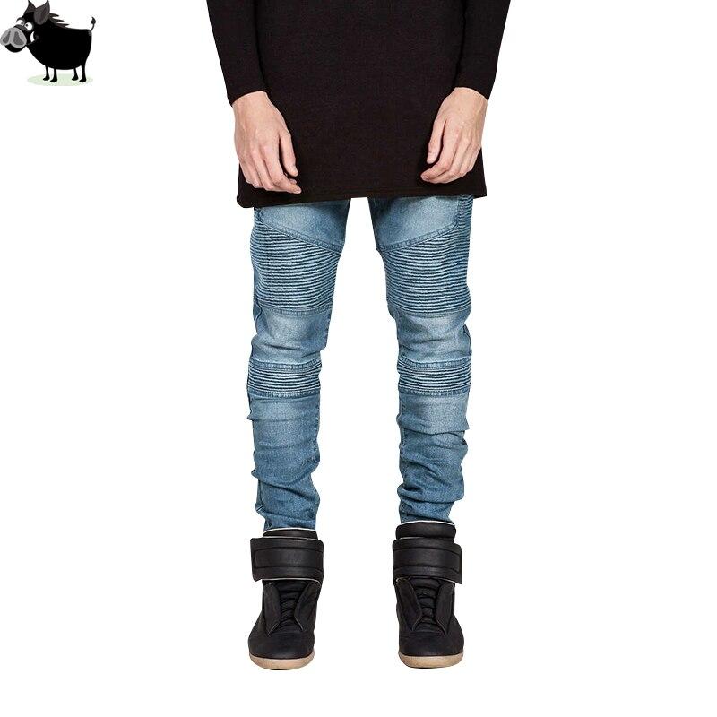 Man Si Tun 2017 Men Jeans Brand Distressed Slim Elastic Ripped Biker Jeans Men Hiphop Men Skinny Jeans Classic Brand Men