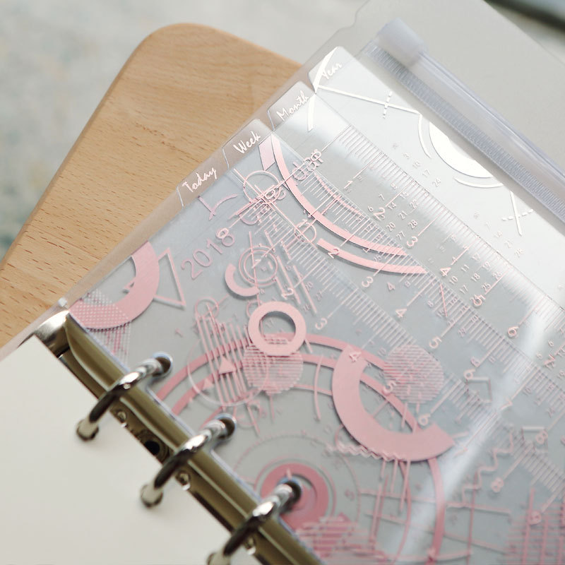 Harphia A5 A6 Seperater Page Calendar Ruler 4pcs/set Loose Leaf Separate  Pink Notebook divider Agenda Planner JournalHarphia A5 A6 Seperater Page Calendar Ruler 4pcs/set Loose Leaf Separate  Pink Notebook divider Agenda Planner Journal