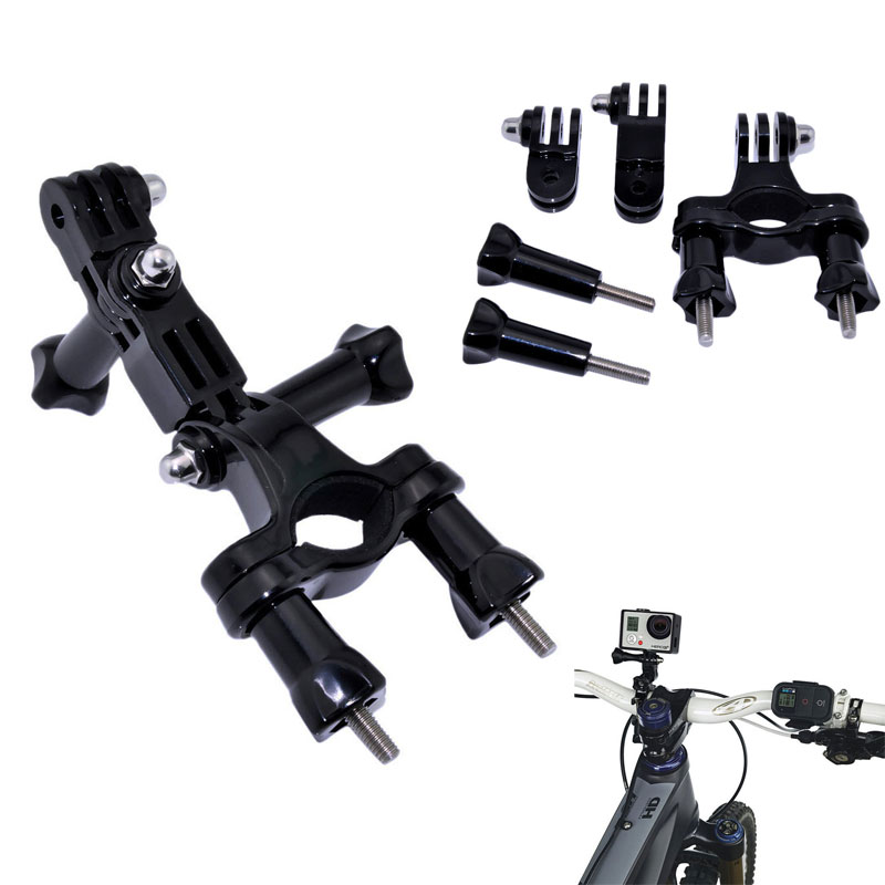 Go Pro Bike Bicycle Handlebar Pole Adjust Holder for GoPro Hero 7 6 5 4 Xiaomi Yi 4K Sjcam SJ4000 Eken H9 H9r Mount Accessories mountain bike bicycle mount stand for gopro hero black