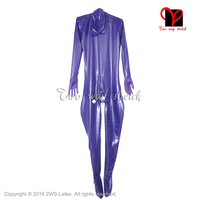 Sexy Full Body Latex Suit Feet Latex Catsuit Men Anus Mouth Condom Penis Sheath Rubber Catsuit