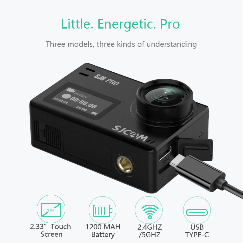 SJCAM SJ8 Pro Action Kamera SJ8 Plus Sport DV 1290P 4K WiFi Fernbedienung 30m Unterwasser Wasserdichte SJ outdoor Sport Cam SJ8 Luft