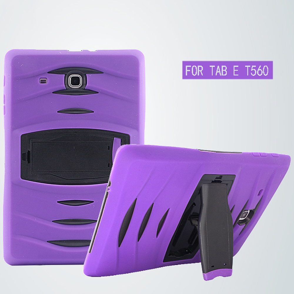 Protective Cover for Samsung TabE 9.6 T560 Heaty Duty Impact Wave Cover Case for Samsung T560 Tablet Shell ...
