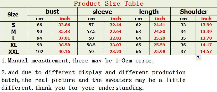 7159 size table