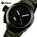 Infantry luxo marca homens relógios de quartzo auto data relógio à prova d' água esportes relógio de aço completo relógio de pulso casual relogio masculino