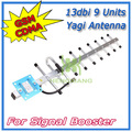 13dBi 9 units  CDMA GSM Outdoor Yagi Antenna 824-960MHz External Antenna For  Mobile Phone Signal Booster N Connector