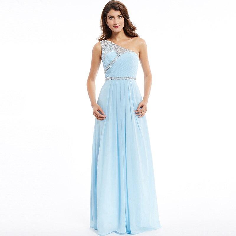 Tanpell une épaule robe de soirée pas cher ciel bleu sans manches - Habillez-vous pour des occasions spéciales - Photo 6