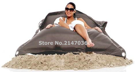 Grey color outdoor buggle up bean bag chair, sand external beanbags lounge, waterproof  and dirt resistentGrey color outdoor buggle up bean bag chair, sand external beanbags lounge, waterproof  and dirt resistent