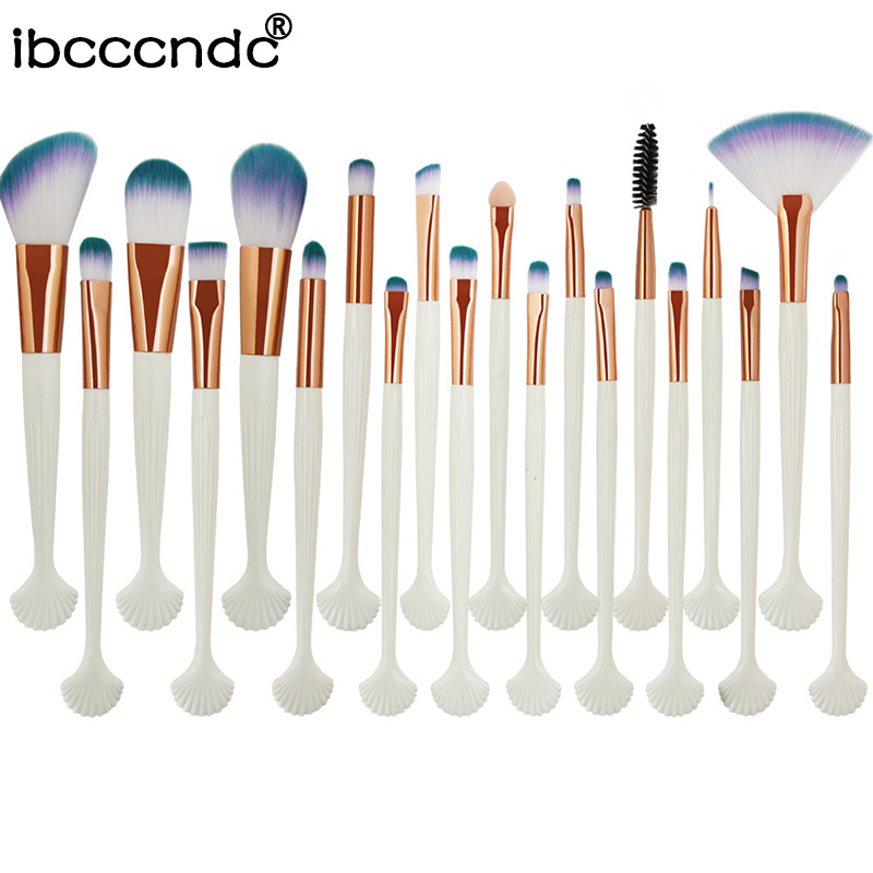 Blush Concealer Makeup-Brushes-Set Shell Cosmetic Power-Eyeshadow Eyes-Face Beauty 20pcs/Set