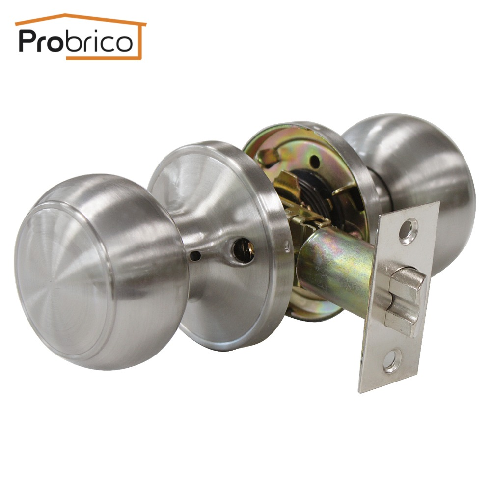 Probrico Passage Keyless Door Lock DL609SNPS Stainless Steel Satin Nickel Door Knobs Door Handles For Interior Doors пелагейченко н физика 7 класс планы конспекты уроков isbn 9785222259061