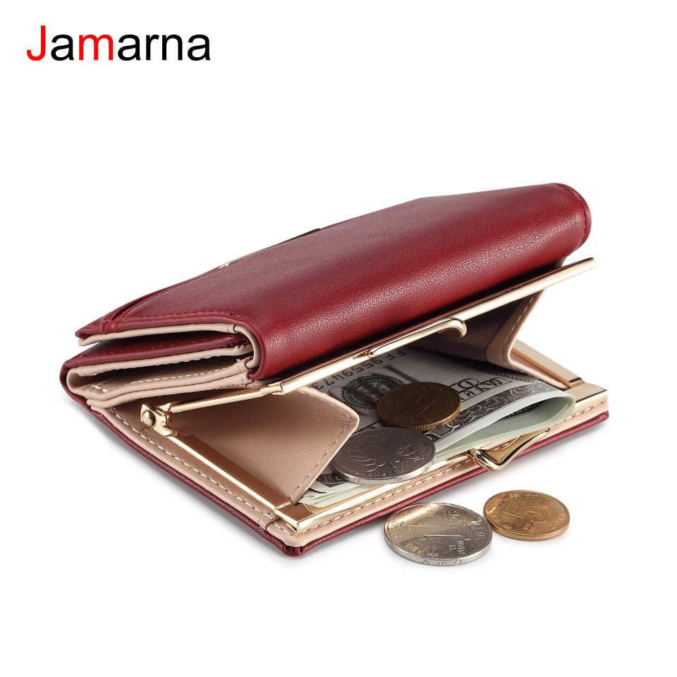 Jamarna Dompet Wanita Pu Koin Dompet Gesper Kecil Dompet Dompet Wanita Merah Slim Dompet Kartu Pemegang Dompet Kecil untuk Koin sambatan