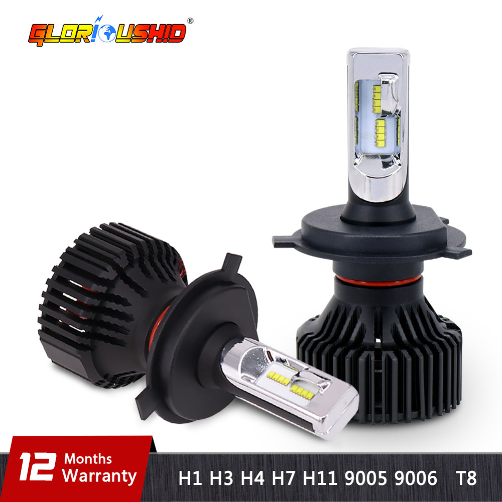 One Pair H7 Led Car Light Bulb H4 H11 9005 9006 H13 9007 LED Headlight 60W 8000lm Automobile Headlamp Fog Light 6500k 12V 9005 9006 60w 9 36v car led headlight led driving light all in one kit super bright hight quality 18 months warranty page 5 page 2 page 10 page href