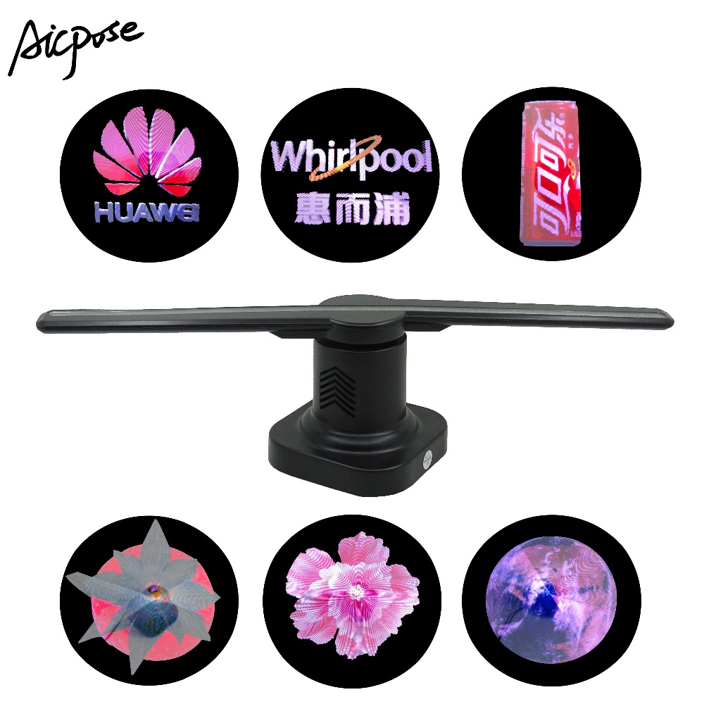 Hologram Led Fan Display LED Fan With Remote Control 3D Holographic Image Nude Eye LED Fan Light 3D Hologram Advertising