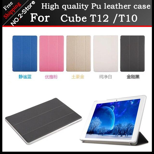 Высокое качество Ультра-тонкий Кожаный Чехол Для Cueb T12/T10 10.1 дюймов Tablet PC защитная крышка Freeshipping + подарок