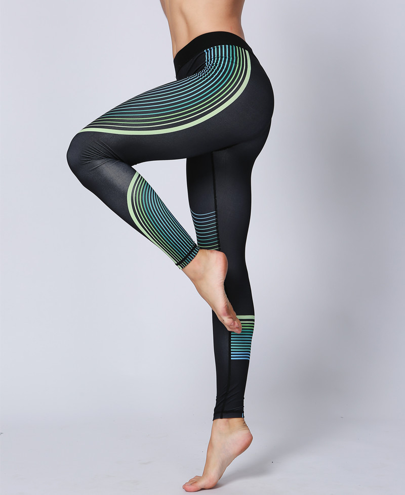 mesh yoga pants sports 2017 new printed mesh 10780