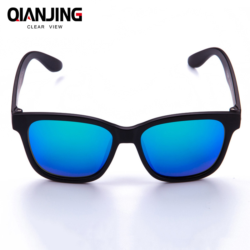 QJ Fashion Sunglasses Men Polarized Sunglasses Women Driving Mirrors Coating Points Black Frame Eyewear Male Sun Glasses UV400