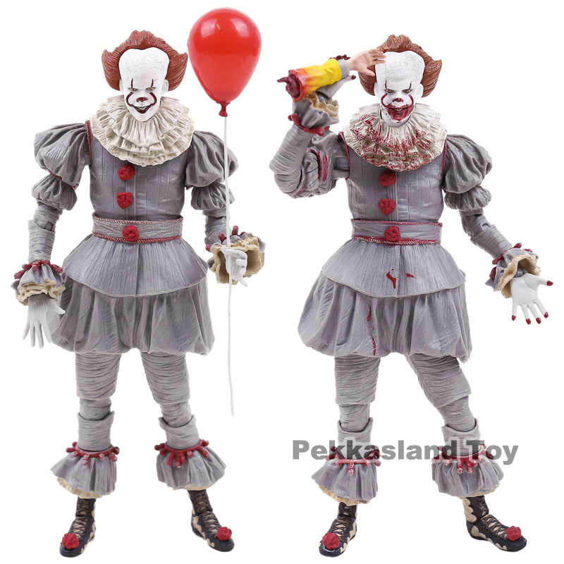 NECA Stephen King's It Pennywise PVC Action Figure ของเล่นสะสม