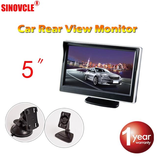 """Viecar 5 """"رصد سيارة عكس موقف كاميرا TFT LCD 5.0 بوصة 800*480 16:9 شاشة HD الرقمية الملونة ل كاميرا خلفية VCD DVD"""