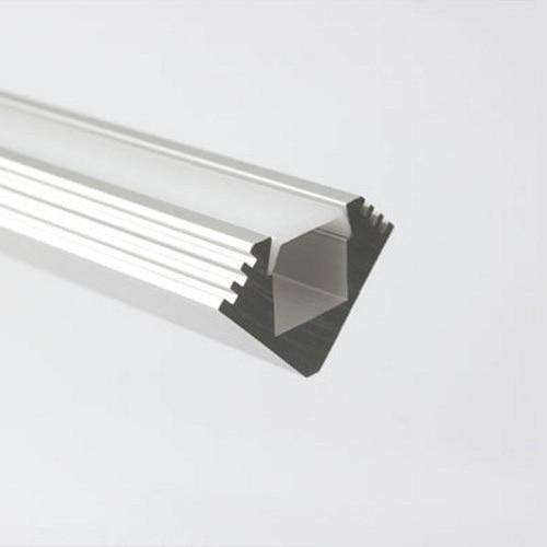 45-MDF rohové pouzdro z hliníkového profilu s difuzorem a - Osvětlovací příslušenství