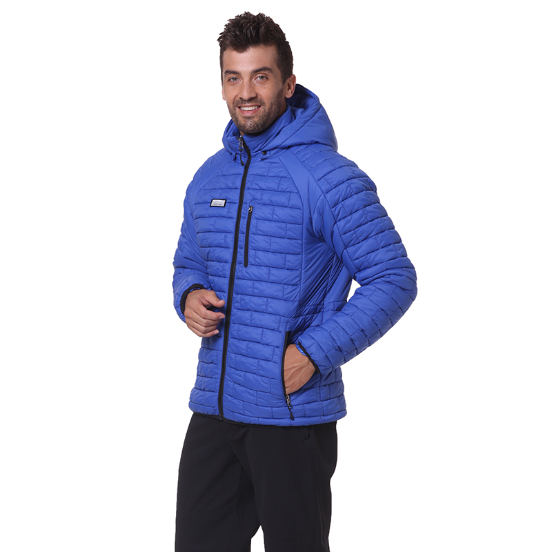 Alion Mens Winter Lightweight Thicken Coat Puffer Jacket with Removable Hood