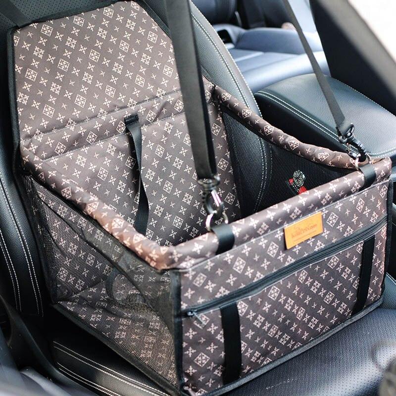 Çift kalın seyahat aksesuarları örgü asılı çanta katlanır Pet malzemeleri su geçirmez köpek halısı battaniye güvenlik Pet araba koltuk çantası