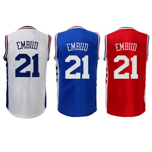 a7bf75b8483 ... get 2016 new joel embiid 21 basketball jersey 100 stitching joel embiid  21 jersey youth embiid