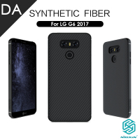 Carbon Fibre Back Case For LG G6 Nillkin Synthetic Fiber Matte Hard PP Plastic Armor Shield
