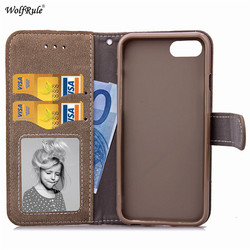 WolfRule For Case Iphone 8 Plus Cover Flip PU Leather Wallet Magnet Card Slot Case For Iphone 8 Plus Case For iPhone 8 Plus 4