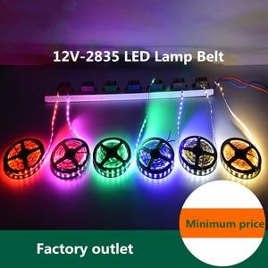 DC 12 V Volt Strip Led Light Tape 2835 RGB 0.5 - 10 M 12V DC 60LED/M RGB Led Strip Tape Lamp Diode Flexible TV Backlight