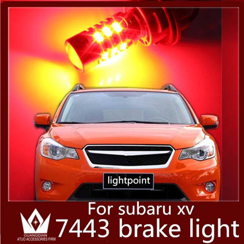 GuangDian авто из светодиодов задний фонарь заднего лампы стоп светодиодный стоп парковка резервного света в w21/5W и Т20 7443 5730 15smd для Субару XV 2011-2014
