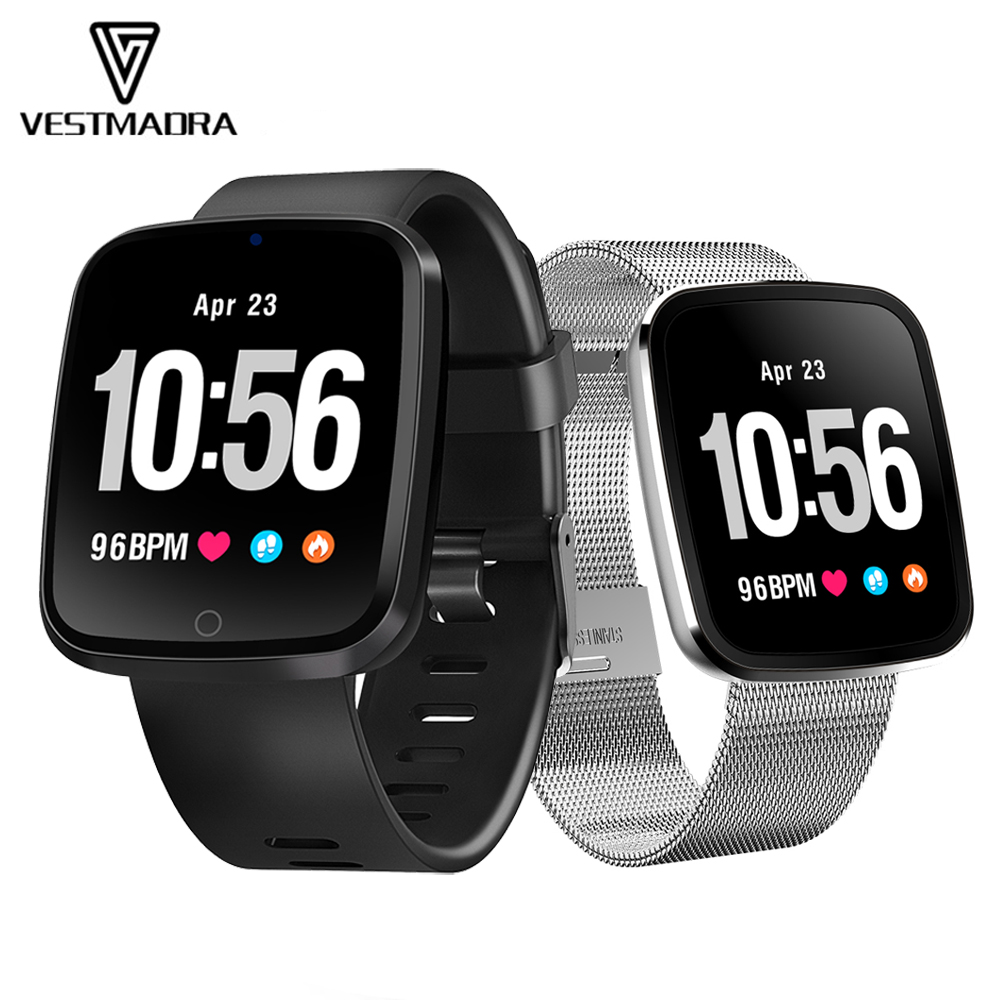 Fine Digital Smart Watch Waterproof Color Screen Bluebooth Sport Watches Fitness Smartwatch Heart Rate Monitor Smart Wristband Silver Men's Watches