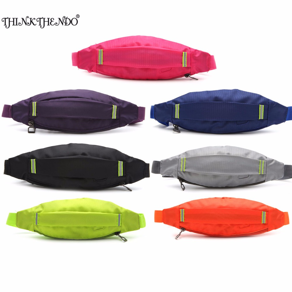 THINKTHEND Unisex Nylon Earphone Waist Belt Pack Bag Pouch Pocket  for Women Men ...