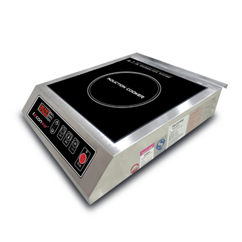 220V Commercial electromagnetic Induction Cooker 3500W Y xeoleo commercial induction 3500w stainless steel induction cookers with timing for hotpot soup stewing stir fly
