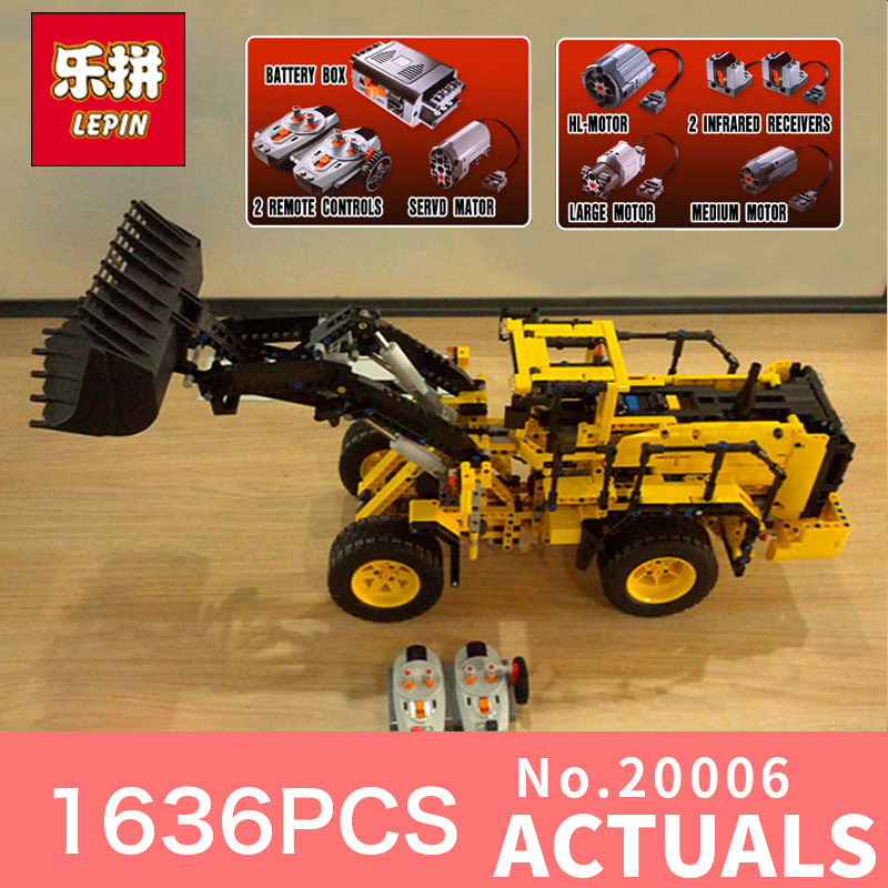 1636Pcs LEPIN 20006 technic series Volvo L350F wheel loader Model Building blocks Bricks Compatible 42030 boy gift car Toys lepin 20006 technic series volvo l350f wheel loader model building kit blocks bricks compatible with toy 42030 educational gifts