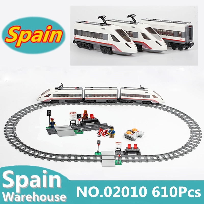 รถไฟเมือง Series 02009 02010 02039 ด้วยรีโมทคอนโทรล RC Train Building block ชุดของเล่น Technic Cargo Train 60051 อิฐ-ใน บล็อก จาก ของเล่นและงานอดิเรก บน   3