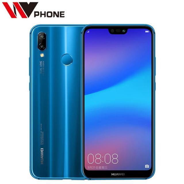 Huawei Nova 3e 4G 64G P20 Lite Mobile Phone Octa Core 5.84 inch 3000mAh 2280*1080P Front 24.0MP Dual Rear Camera Fingerprint ID